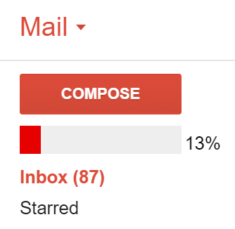inbox zero progress bar