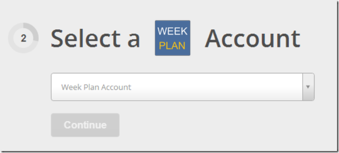 Select a WeekPlan account
