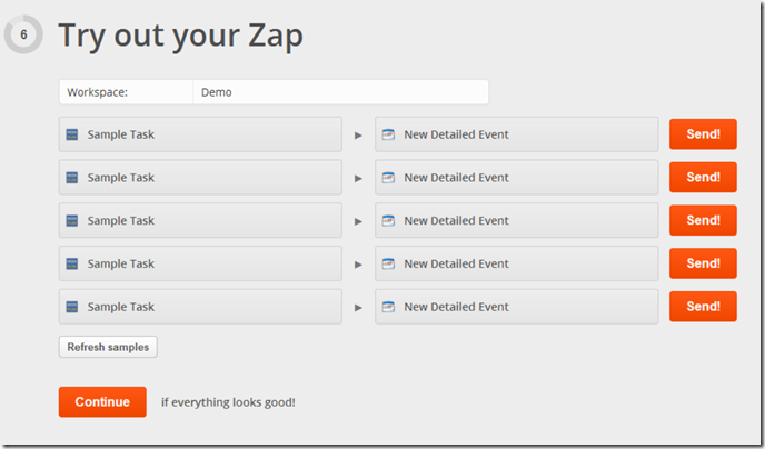Try out your Zap