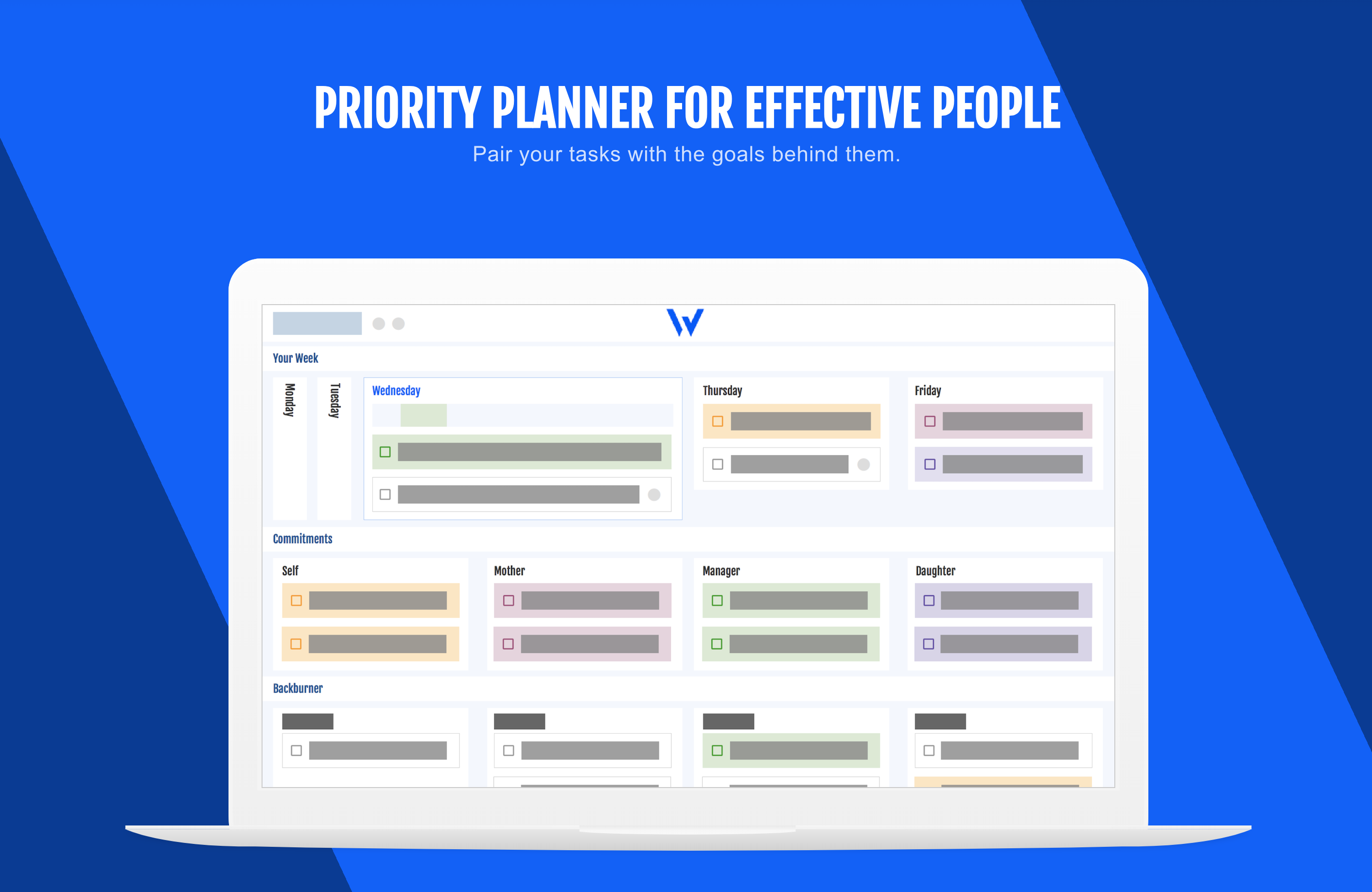 Priority Planner with Effective People